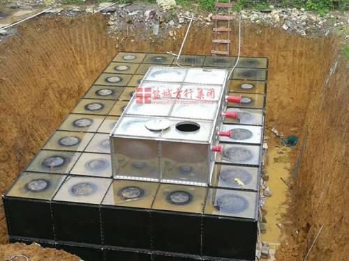 抗浮式增压地埋式箱泵一体化泵站